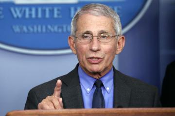 Hlavní americký epidemiolog Anthony Fauci (na snímku z 7. dubna 2020).