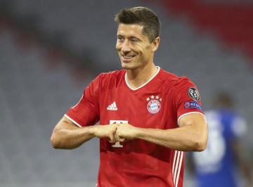 Fotbalista Bayernu Mnichov Robert Lewandowski