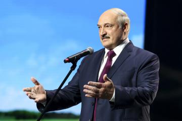 Ilustrační foto - Běloruský prezident Alexandr Lukašenko při svém projevu v Minsku, 17. září 2020.