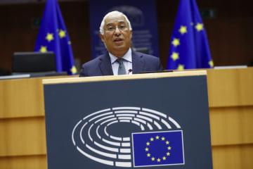 Portugalský premiér António Costa v Evropském parlamentu.