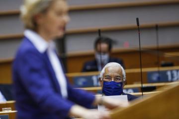 Předsedkyně Evropské komise Ursula von der Leyenová v Evropském parlamentu.