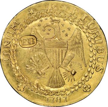 Vzácný zlatý dublon z roku 1787 (na snímku) se na aukci v USA prodal za 9,36 milionu dolarů (200 milionů Kč), což je podle aukční síně Heritage rekord.