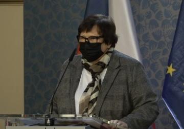 Ministryně spravedlnosti Marie Benešová (za ANO).