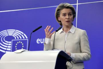Šéfka Evropské komise Ursula von der Leyenová (na snímku z 12. února 2021).