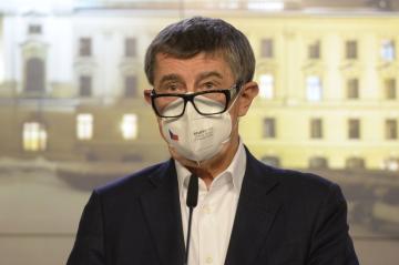 Ilustrační foto - Premiér Andrej Babiš vystoupil 25. února 2021 v Praze na tiskové konferenci po mimořádném zasedání vlády.