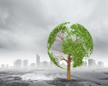 Globální oteplování, znečištění ovzduší, životního prostředí, skleníkový efekt - ilustrační foto