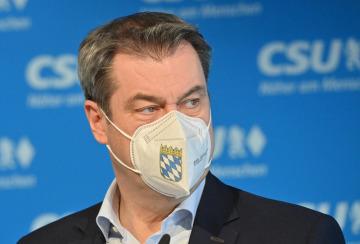 Bavorský premiér a předseda bavorské sesterské Křesťansko-sociální unie (CSU) Markus Söder na snímku z 20. dubna 2021.