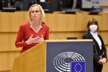 Europoslankyně Kateřina Konečná (KSČM, skupina Levice v Evropském parlamentu - GUE/NGL)