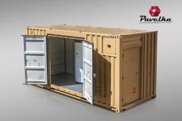 Zařízení S.A.W.E.R. se skládá ze dvou kontejnerových jednotek. Kontejnery mají vnější půdorysné rozměry 2,4 x 6,0 m a výšku 2,9 m.