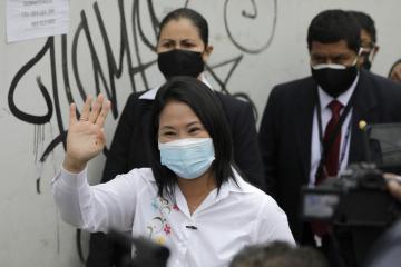 Konzervativní kandidátka prezidentských voleb v Peru Keiko Fujimoriová.