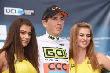 Silniční cyklista Michal Schlegel (na archivním snímku z 13. srpna 2017).