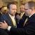V Praze se 25. ledna 2020 konal mimořádný volební sjezd KDU-ČSL. Novým předsedou strany delegáti zvolili Mariana Jurečku (vlevo). Nahradil Marka Výborného (vpravo), který ve funkci skončil z rodinných důvodů.
