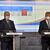 Zleva ministr zdravotnictví Roman Prymula (za ANO) a místopředseda vlády, ministr průmyslu a obchodu a ministr dopravy Karel Havlíček (za ANO) vystoupili 26. října 2020 v Praze na tiskové konferenci po jednání vlády.