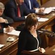 Ministryně financí Alena Schillerová (za ANO) vystoupila 23. října 2019 v Praze na schůzi Poslanecké sněmovny, která se bude v úvodním kole zabývat návrhem státního rozpočtu na příští rok.